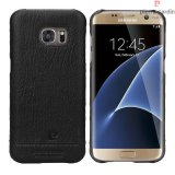 Pierre Cardin Genuine Leather Galaxy S7 EDGE Back case - Black