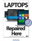 Promotional Poster A2 -  Laptops Repaired Here