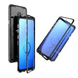 Magnetic Absorption Metal & Glass Back Case for Samsung Galaxy S9 Plus - Black