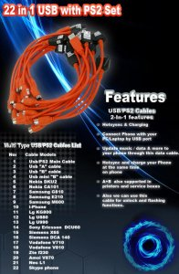 22-in-1 USB Data Cable Set