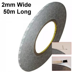2mm Wide High Temperature Resistant Double Sided Black Tape